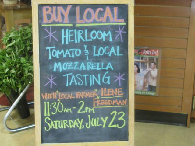 tomato tasting billboard