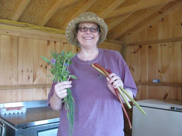 Carolee at harvest