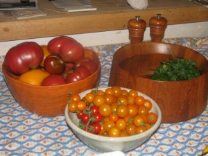 tomatoes on the table small